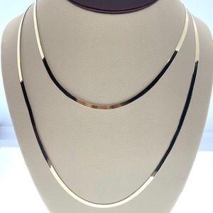 10kt gold herringbone necklace